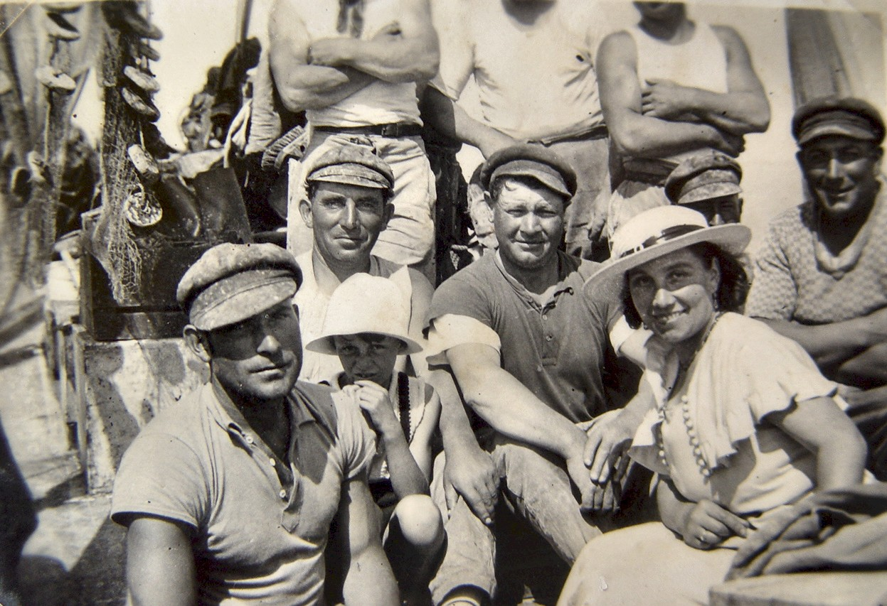 Pornic, en 1948, sur le «Point d'Interrogation»