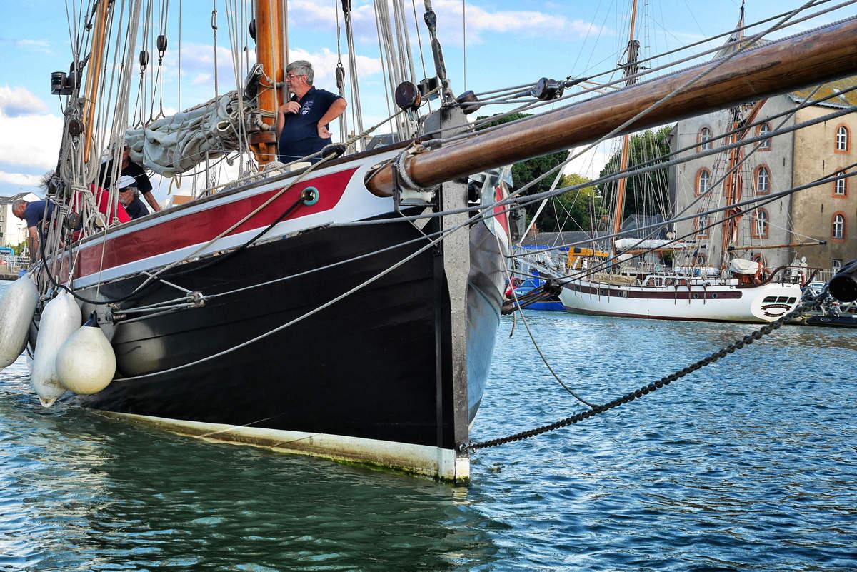 Le Saint-Michel II rentre dans le port de Pornic