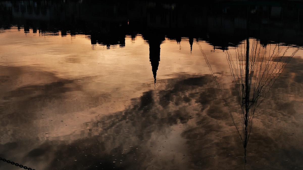 Pornic : Coucher de soleil inattendu sur le vieux port