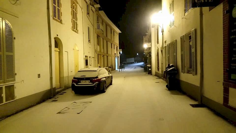 Une nuit de Neige sur Pornic