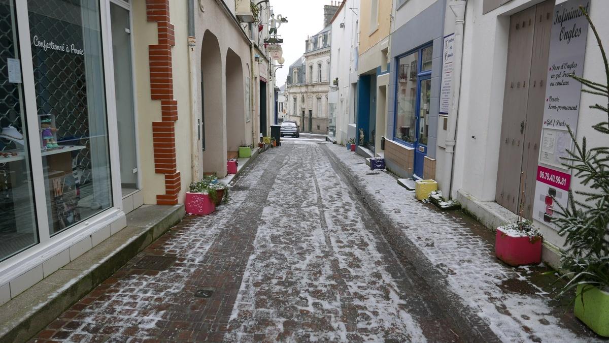 Neige à Pornic